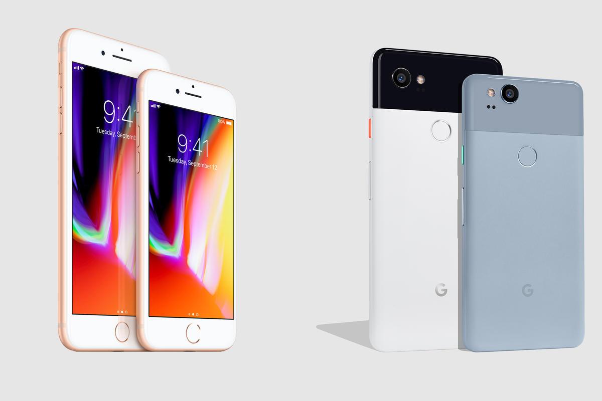 Google Pixel 2 vs Apple iPhone 8