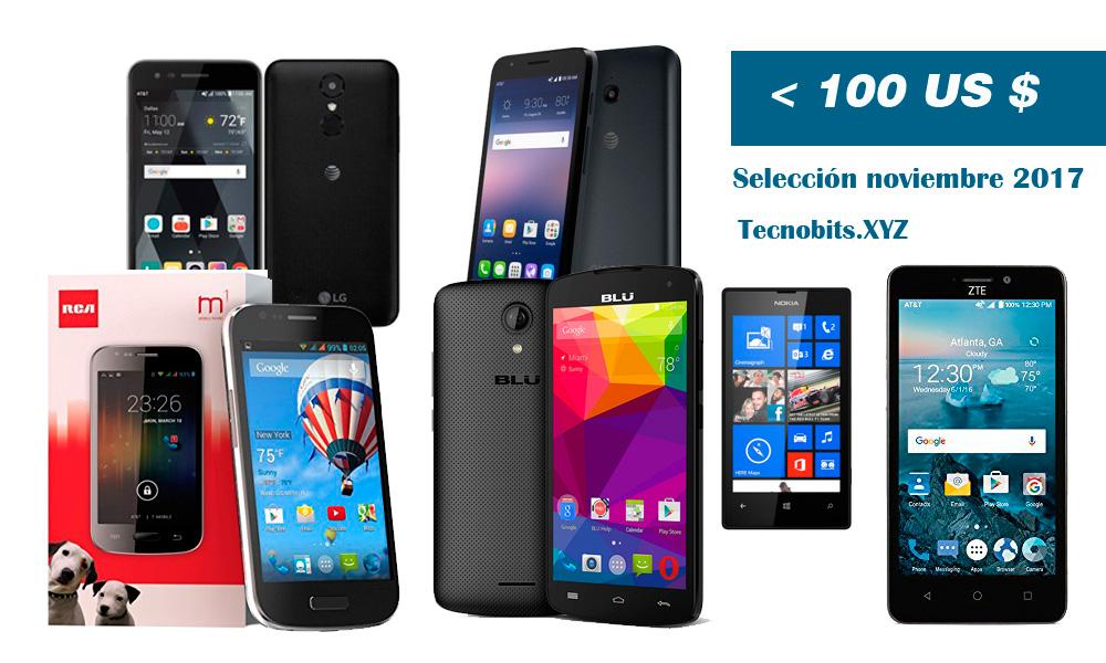 Los mejores smartphones por menos de 100 $, selección noviembre 2017