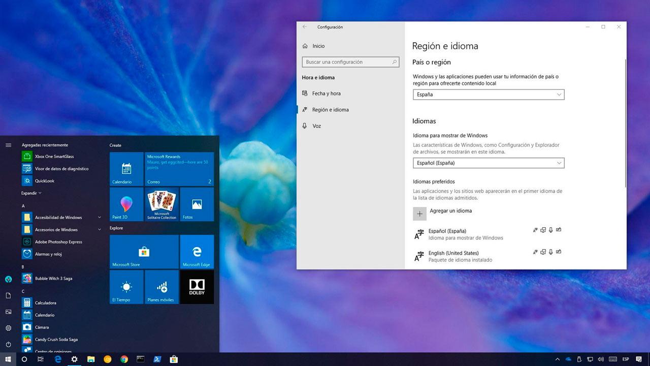 Cómo cambiar el idioma de Windows 10 por completo