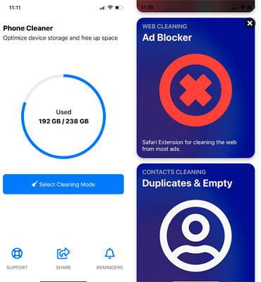 Los mejores limpiadores de espacio para iPhone